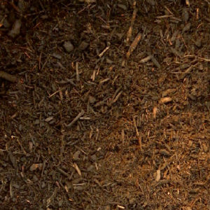 Double ground hardwood mulch, brown.