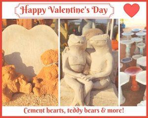 Valentine cement statues