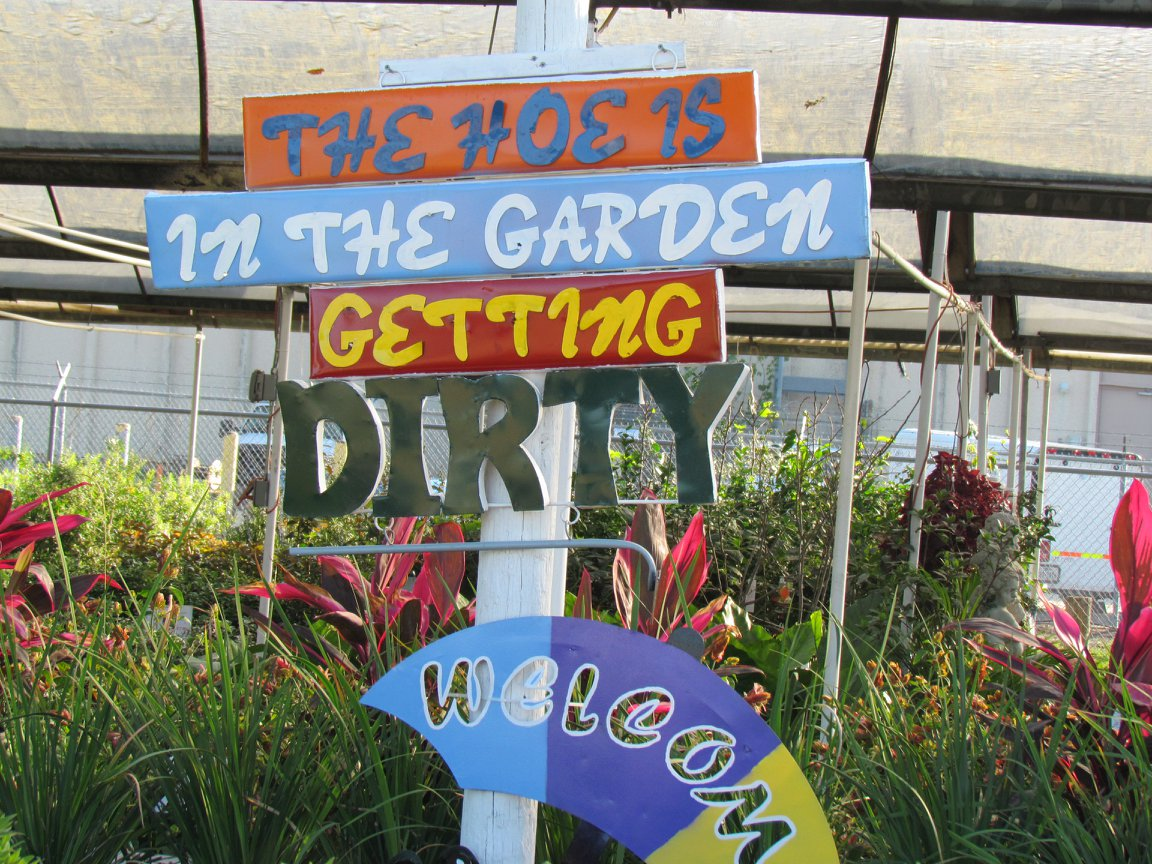 Wrought Iron signs for your garden or fence.