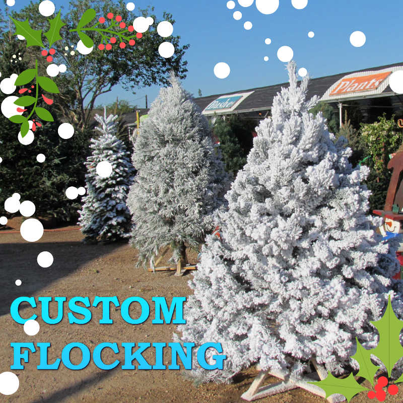Tree flocking is a great way to add some Christmas Spirit!