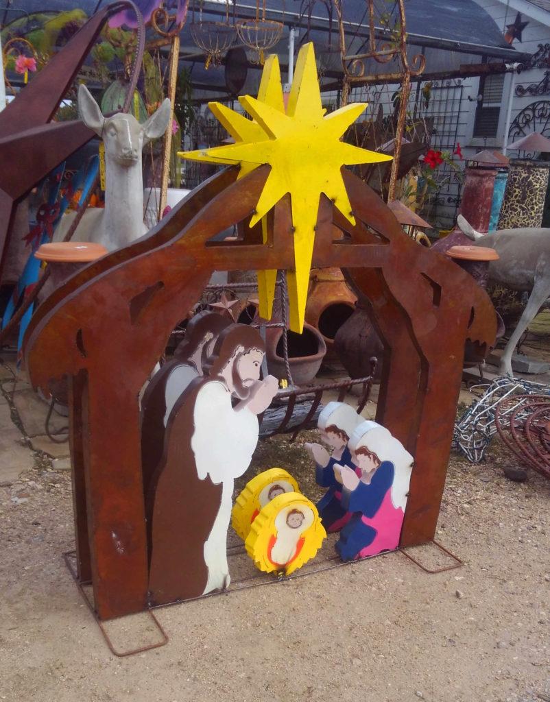 Iron Metal Christmas Nativity Scene!