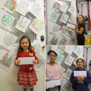 Christmas coloring book winners at Madison Gardens Nursery!