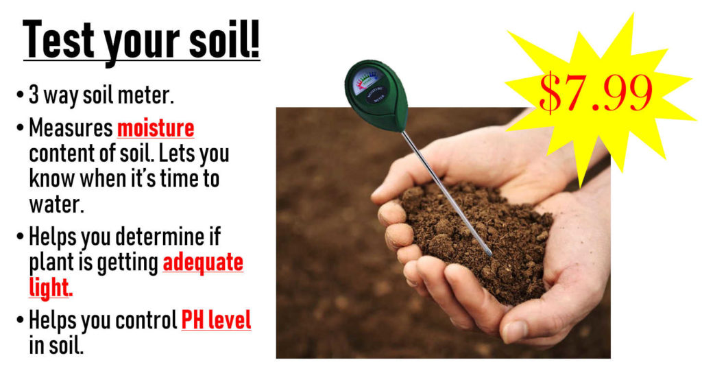 """Test your soil with """"3 Way Soil Meter"""" for your own do-it-yourself soil analysis!"""