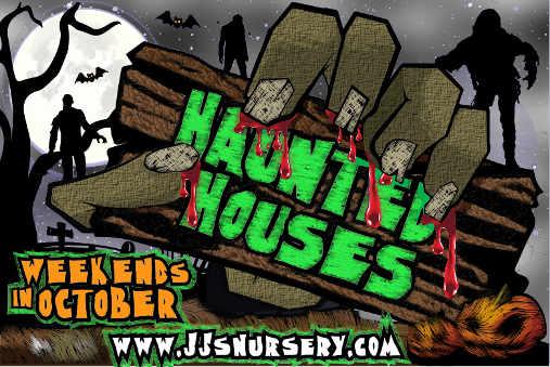 Haunted Houses at J&J Nursery, 4115 FM 2920 Rd., Spring, TX 77388.