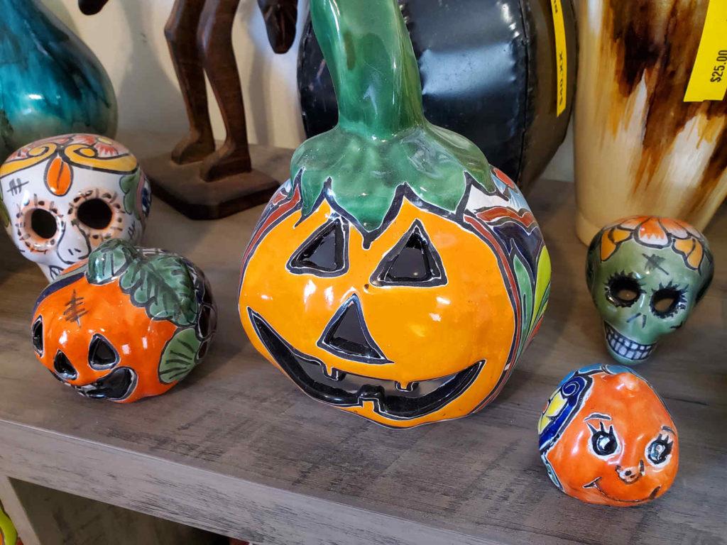 Franken-tastic talavera pumpkins and sugar skulls!