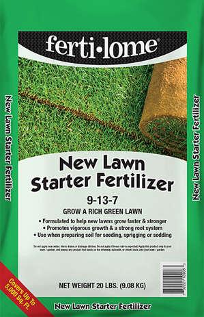 New Lawn Starter Fertilizer by Ferti-lome.