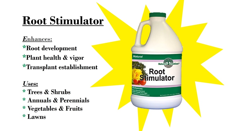 Nature's Creation Root Stimulator. Protects your plants against transplant shock!