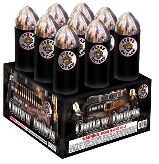 Outlaw Bullets 500 gram cake! Outlaw Bullets! Run for cover!