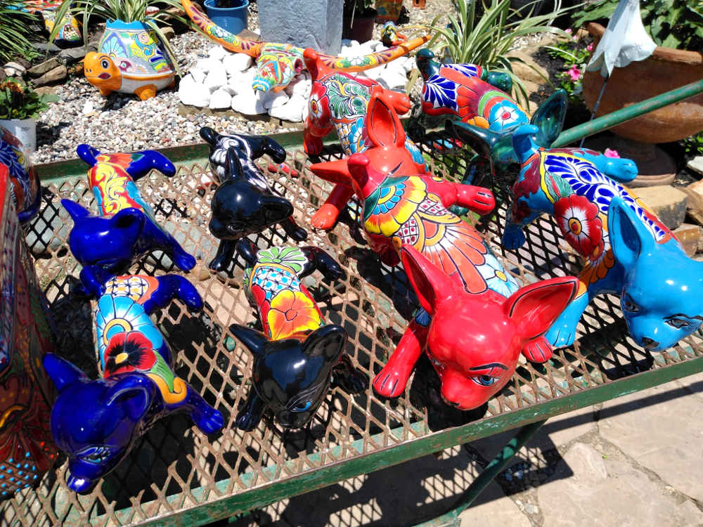 Colorful talavera pottery chihuahua dogs!