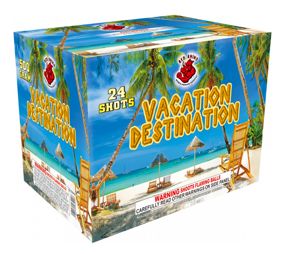 Vacation Destination available at Madison's Fireworks Store! 24 shots!