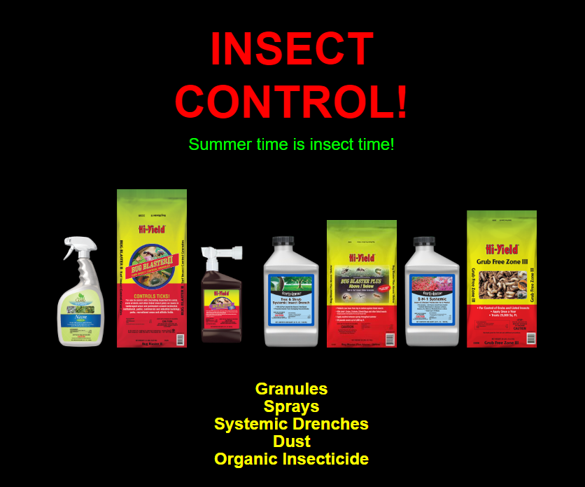 Many insecticides for grubs, sod webworms and more are available at Madison Gardens Nursery!