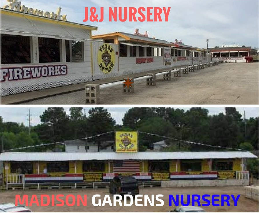 Fireworks store at Madison Gardens Nursery, Spring, TX