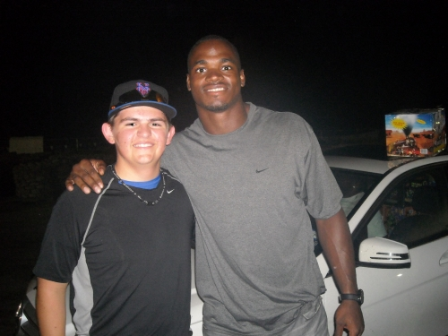 Adrian Peterson #28, NFLMinnesota Vikings with our sales rep.