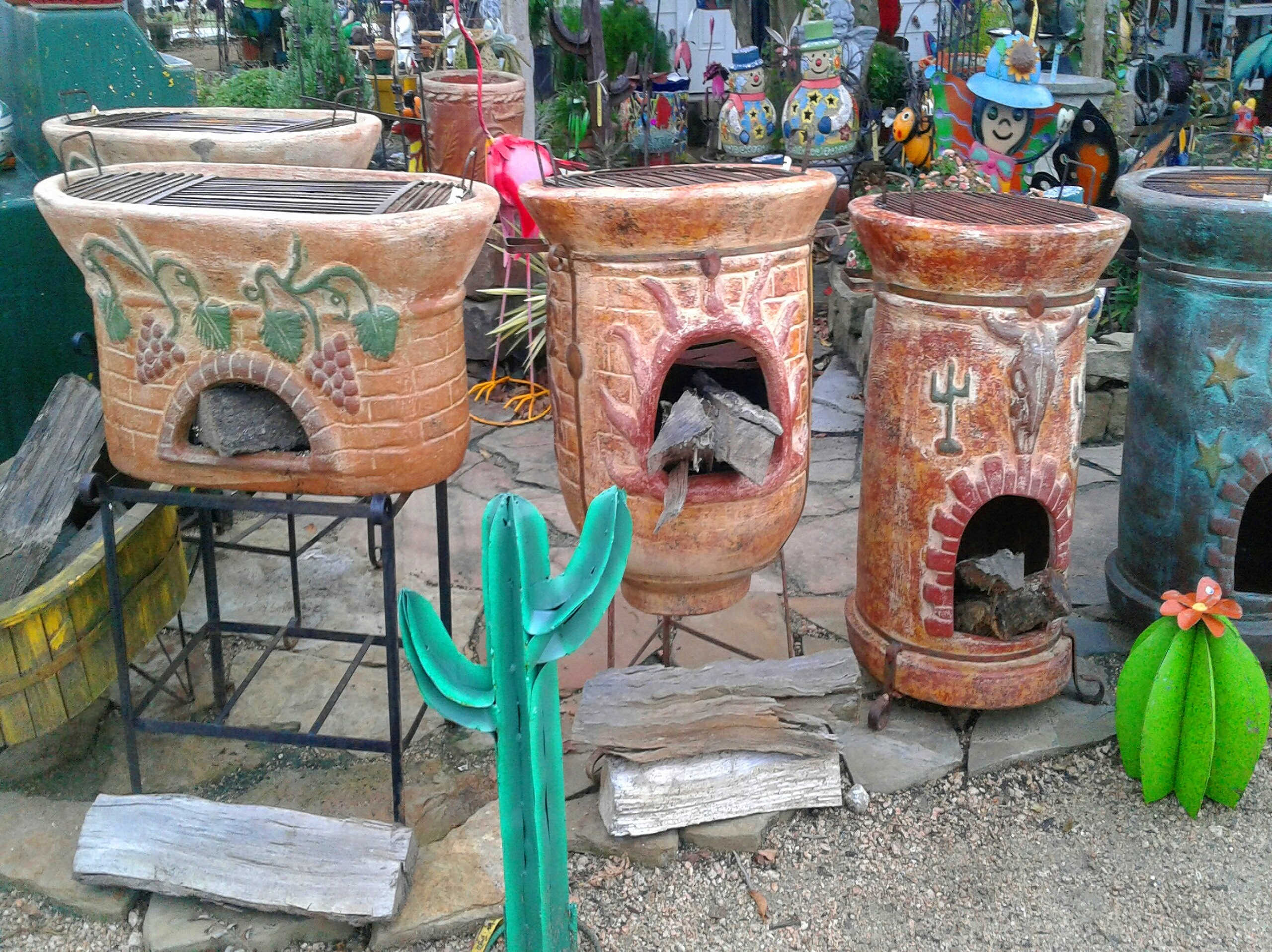 Outdoor Pottery at Madison Gardens Nursery, Spring, TX