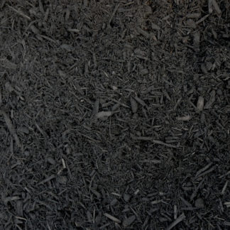 Double shredded dyed black mulch.