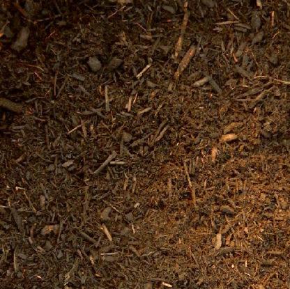 Double ground hardwood mulch, brown.