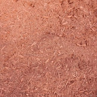 Double ground hardwood red mulch.