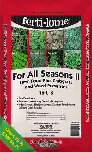 For All Seasons II 16-0-8 (20 lbs) Lawn Fertilizer.