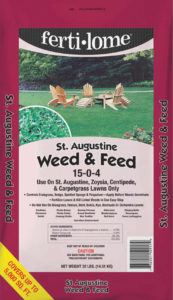 Ferti-lome's Weed & Feed for St. Augustine Grass.